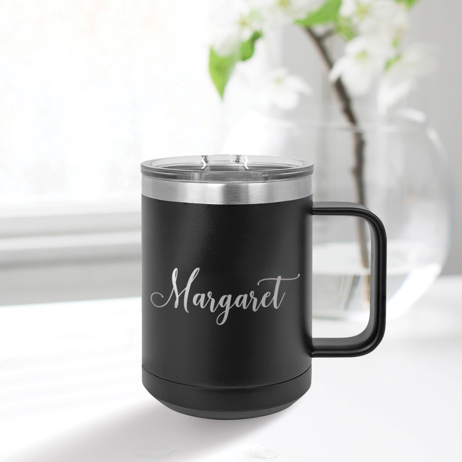 15 oz Coffee Tumbler by Three Designing Women - name