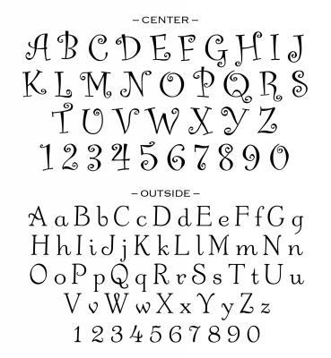 Custom Stamp Alphabet for CS3251 by Three Designing Women