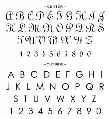 Custom Stamp Alphabet for CS3252 by Three Designing Women
