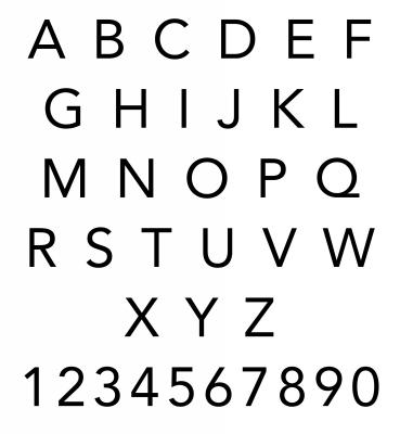 Custom Stamp Alphabet for CS3603 by Three Designing Women