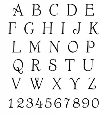 Custom Stamp Alphabet for CS3612 by Three Designing Women