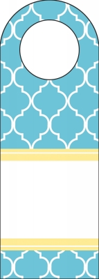 Madison Bright Blue Bottle Tags by Three Designing Women