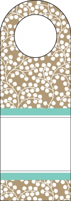 Wisteria Taupe Bottle Tags by Three Designing Women