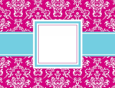 Toile Pink Foldover Notes by Three Designing Women