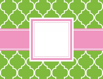 Madison Green Foldover Notes by Three Designing Women