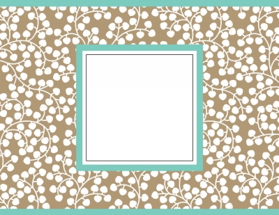 Wisteria Taupe Foldover Notes by Three Designing Women