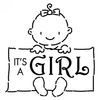 Baby Sign Girl Stamp Design Clip for Three Designing Women Stampers