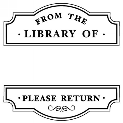 Library Stamp Design Clip for Three Designing Women Stampers