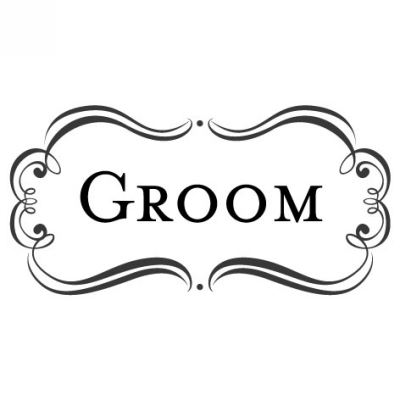 Amore Groom Stamp Design Clip for Three Designing Women Stampers