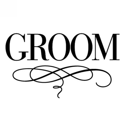 Luxe Groom Stamp Design Clip for Three Designing Women Stampers