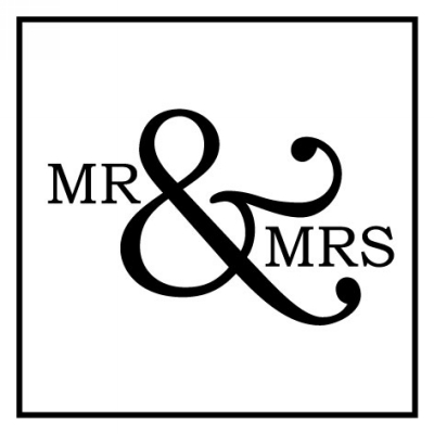 Mr and Mrs Stamp Design Clip for Three Designing Women Stampers