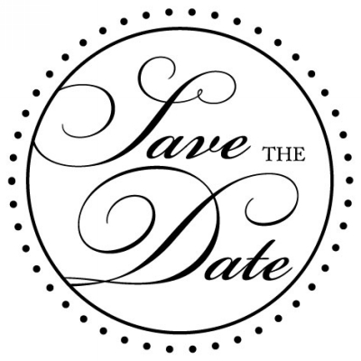 Save the Date Stamp Design Clip for Three Designing Women Stampers