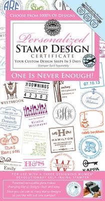 Three Desiging Women Personalized Stamp Design Gift Certificate