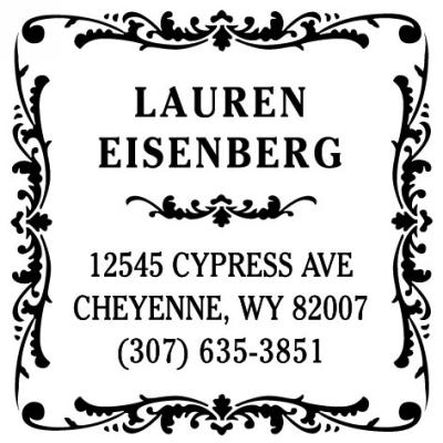 Three Designing Women Personalized Self-Inking Stamper CS3229