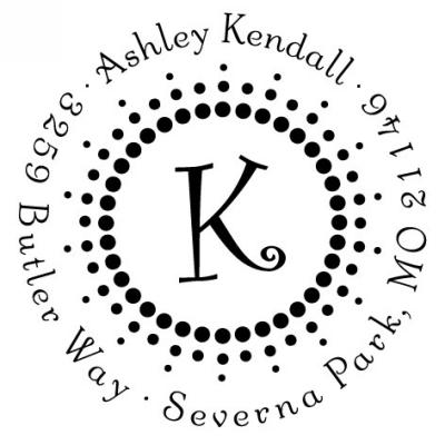 Three Designing Women Personalized Stamp CS3251