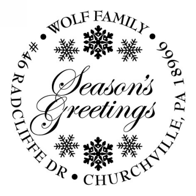 Seasons Greetings Holiday Stamper by Three Designing Women CS3501