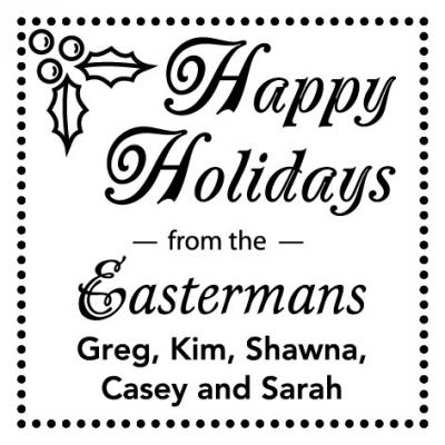 Happy Holidays Stamper by Three Designing Women CS3506