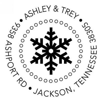 Snowflake Holiday Stamper by Three Designing Women CS3518