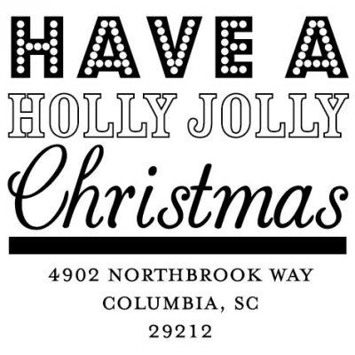Holly Jolly Christmas Holiday Stamper by Three Designing Women CS3522