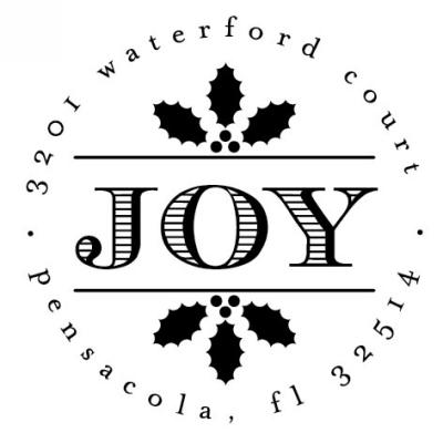Joy Holiday Stamper by Three Designing Women CS3525
