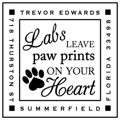 Personalized Pet Stamper by Three Designing Women CS3633