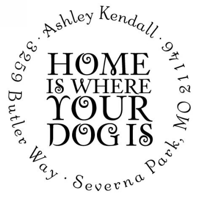 Personalized Pet Stamper by Three Designing Women CS3636