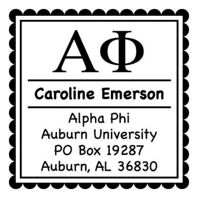 Alpha Phi Sorority Self-Inking Stamp by Three Designing Women