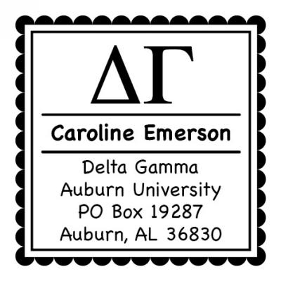 Delta Gamma Sorority Self-Inking Stamper by Three Designing Women