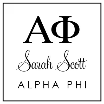 Alpha Phi Sorority Stamp by Three Designing Women