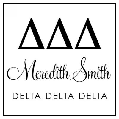 Delta Delta Delta Sorority Stamp by Three Designing Women