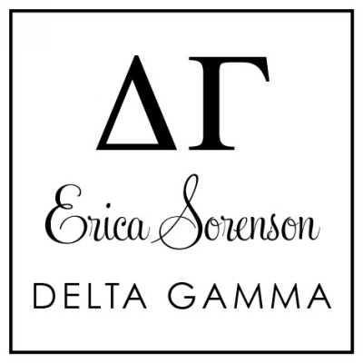 Delta Gamma Sorority Stamper by Three Designing Women
