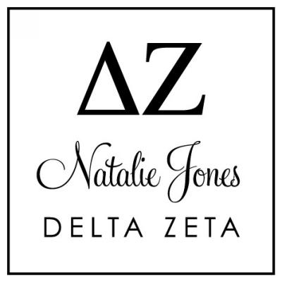 Delta Zeta Sorority Stamper by Three Designing Women