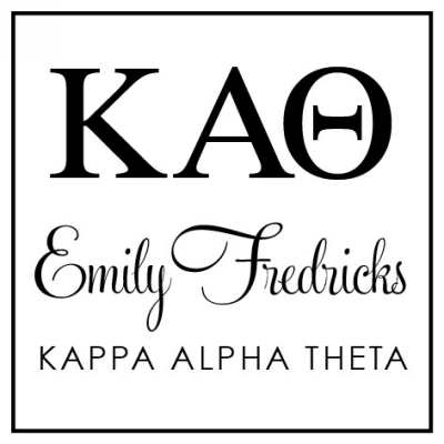 Kappa Alpha Theta Sorority Stamper by Three Designing Women