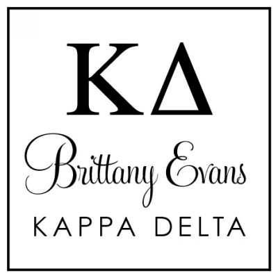 Kappa Delta College Sorority Stamp by Three Designing Women