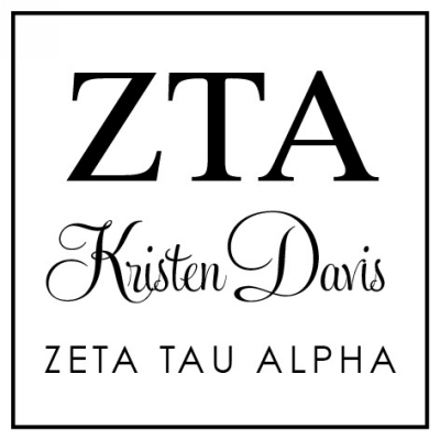 Zeta Tau Alpha College Sorority Stamp by Three Designing Women
