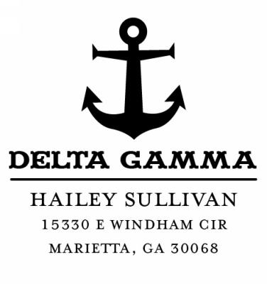 Delta Gamma Sorority Custom Self-Inking Stamper by Three Designing Women