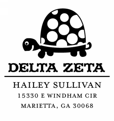 Delta Zeta Sorority Custom Self-Inking Stamper by Three Designing Women