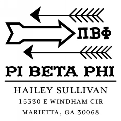 Pi Beta Phi Three Designing Women college sorority stamp