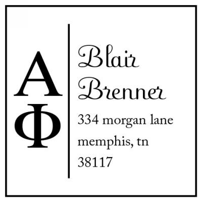 Alpha Phi Sorority Stamp by Three Designing Women