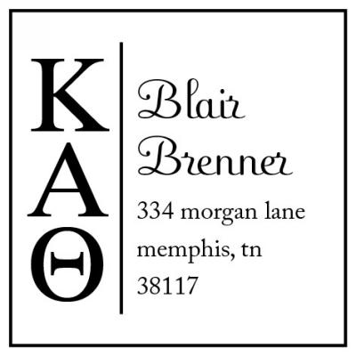 Kappa Alpha Theta Sorority Custom Self-Inking Stamper by Three Designing Women