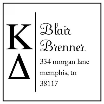 Kappa Delta College Sorority Stamp by Three Designing Women
