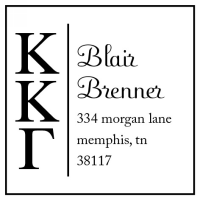 Kappa Kappa Gamma Three Designing Women college sorority stamp
