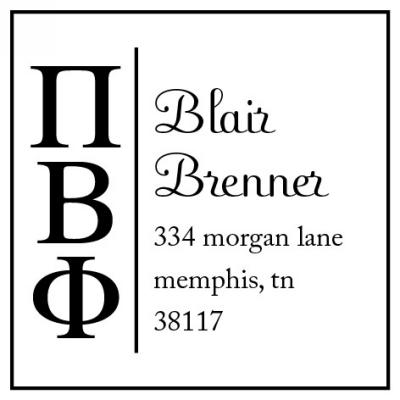 Pi Beta Phi Three Designing Women college sorority stamp