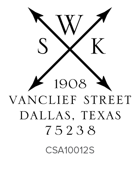 Three Designing Women Custom Self-Inking Monogram Address Stamper CSA10012S