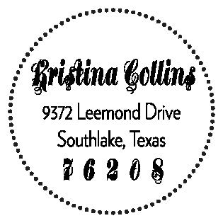 Three Designing Women Custom Self-Inking Address Stamper CSA10020S