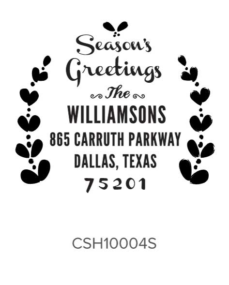 Custom Self-Inking Holiday Stamper by Three Designing Women CSH10004S