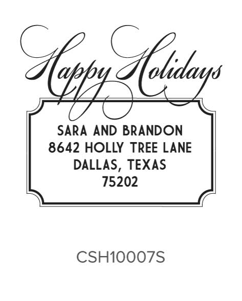 Custom Self-Inking Holiday Stamper by Three Designing Women CSH10007S