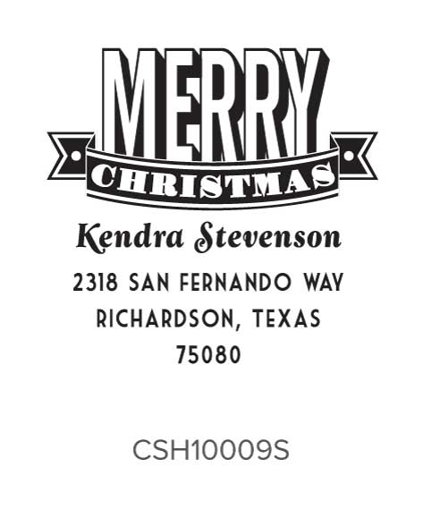 Personalized Self-Inking Holiday Stamper by Three Designing Women CSH10009S