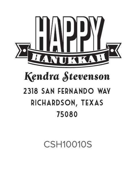 Personalized Self-Inking Holiday Stamper by Three Designing Women CSH10010S