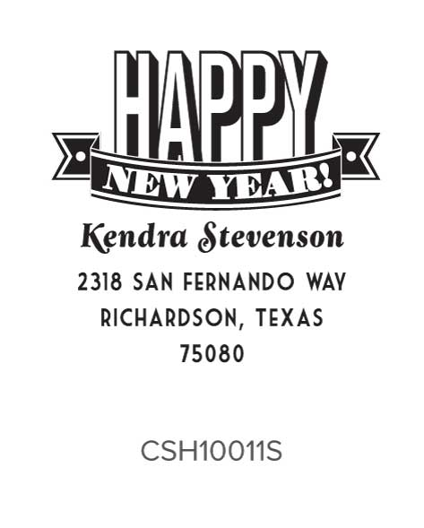 Personalized Self-Inking Holiday Stamper by Three Designing Women CSH10011S